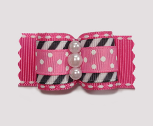 "#A7100 - 7/8"" Dog Bow - Cool, Unique & Stylish: Pink"