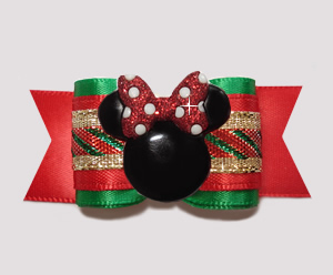 "#A7330 - 7/8"" Dog Bow - Classic Holidays with Minnie Mouse"