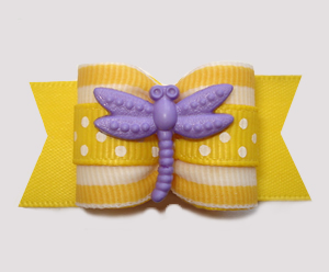"#A7365 - 7/8"" Dog Bow - Summer Sun Dragonfly Delight"