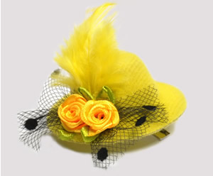 #TTD02 - Tiny Topper Dog Hat, Deluxe - Sunshine Yellow