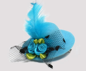 #TTD08 - Tiny Topper Dog Hat, Deluxe - Tantalizing Turquoise