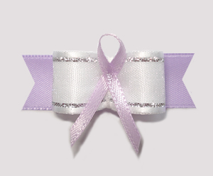 "#AB8006 - 5/8"" Dog Bow - Lavender Awareness Ribbon"