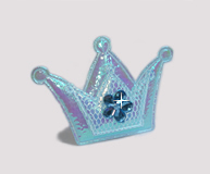 #BAR0101 - Dog Barrette - Cutie Patootie, Sparkly Crown, Blue