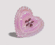 #BAR0103 - Dog Barrette - Cutie Patootie, Sparkly Heart, Pink