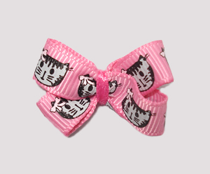 #BBTQ090- Baby Boutique Dog Bow - Purr-fectly Cute, Little Kitty