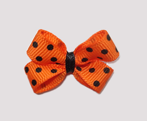 #BBTQ093 - Baby Boutique Dog Bow - Halloween Dots