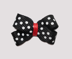 #BBTQ095 - Baby Boutique Dog Bow - Minnie Mouse Dots
