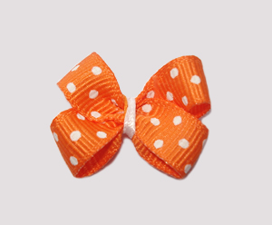 #BBTQ260 - Baby Boutique Dog Bow - Tangelo Orange
