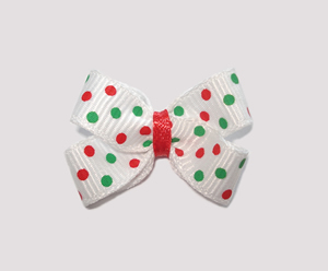 #BBTQ300 - Baby Boutique Dog Bow - Festive Candy Cane Dots