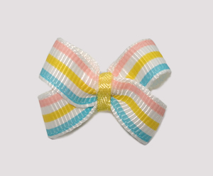 #BBTQ640 - Baby Boutique Dog Bow - Baby Sweet Pastel Stripes