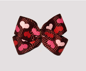 #BBTQ650- Baby Boutique Dog Bow - Whole Lotta Love, Happy Hearts