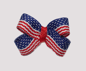 #BBTQ670 - Baby Boutique Dog Bow - Patriotic Red, White and Blue
