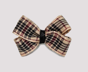 #BBTQ690 - Baby Boutique Dog Bow - Classic Designer Plaid/Tartan