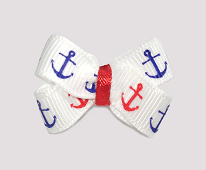 #BBTQ705 - Baby Boutique Dog Bow - Adorable Anchors