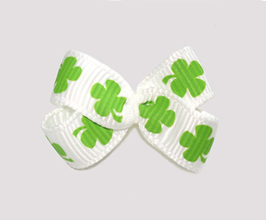 #BBTQ710 - Baby Boutique Dog Bow - St Patrick's Day Shamrocks