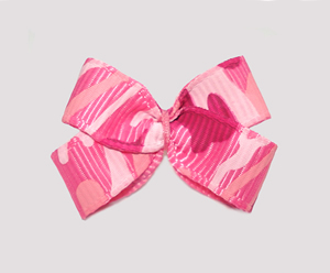 #BBTQ720 - Baby Boutique Dog Bow - Pink Camouflage Print