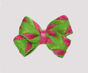 #BBTQ745 - Baby Boutique Dog Bow - Zesty Lime/Pink