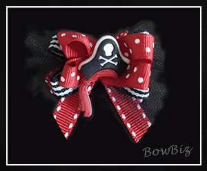 #BTQ020 - Boutique Dog Bow - Pirate P-arrrr-ty
