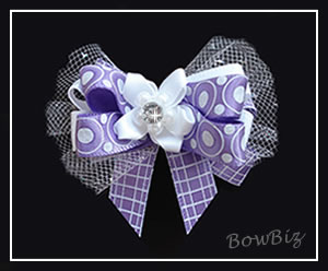 #BTQ045 - Boutique Dog Bow - Love a Lady in Lilac