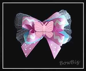 #BTQ060 - Boutique Dog Bow - You Give Me Butterflies