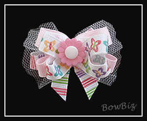 #BTQ136 - Boutique Dog Bow - Butterfly Kisses