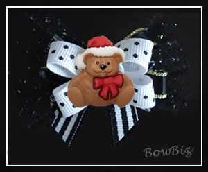 #BTQ230 - Boutique Bow - Classic Christmas Teddy