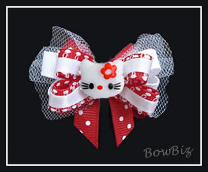 #BTQ280 - Boutique Dog Bow - Hello Sweet Little Kitty