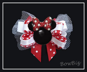 #BTQ310 - Boutique Dog Bow - Minnie Mouse Cutie