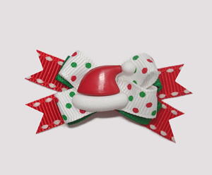 #BTQM001 - Mini Boutique Dog Bow Here Comes Santa Claus