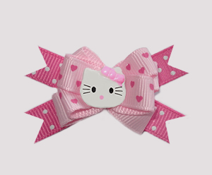 #BTQM005 - Mini Boutique Dog Bow Hello Little Kitty