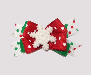 #BTQM010 - Mini Boutique Dog Bow Let It Snow
