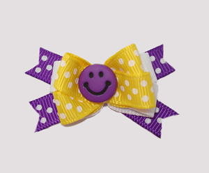 #BTQM020 - Mini Boutique Dog Bow Put On A Happy Face