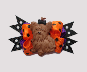 #BTQM042 - Mini Boutique Dog Bow Ready for Halloween, Yorkie