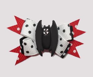 #BTQM257 - Mini Boutique Dog Bow Vampire Bat