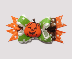 #BTQM283 - Mini Boutique Dog Bow My Little Pumpkin