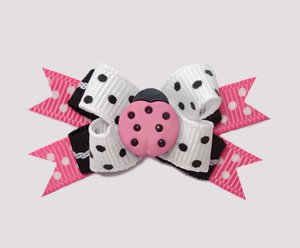 #BTQM415 - Mini Boutique Dog Bow Little Ladybug Rosie