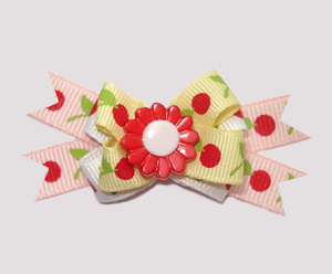 #BTQM440 - Mini Boutique Dog Bow Very Cherry