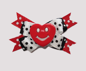 #BTQM470 - Mini Boutique Dog Bow You Make My Heart Smile!