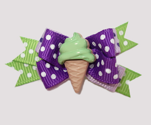 #BTQM590 - Mini Boutique Dog Bow Mint To Be Seen, Mint Cone