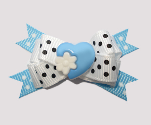 #BTQM620 - Mini Boutique Dog Bow My Little Sweetheart, Blue