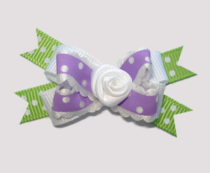 #BTQM630 - Mini Boutique Dog Bow Cute Country Cottage Ruffle