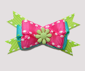 #BTQM660 - Mini Boutique Bow Summer Brights, Pink/Blue/Green