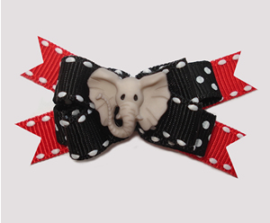#BTQM750 - Mini Boutique Dog Bow Adorable Little Elephant