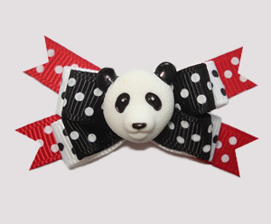 #BTQM760 - Mini Boutique Dog Bow Panda Pandemonium