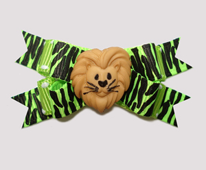 #BTQM770 - Mini Boutique Dog Bow Walk on the Wild Side, Lion