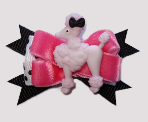 #BTQM792 - Mini Boutique Dog Bow Pretty Parisian, Pink Velvet