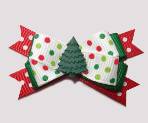 #BTQM820- Mini Boutique Bow Candy Cane Sprinkle, Holiday Tree