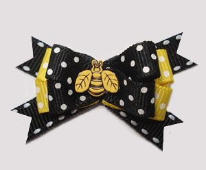 #BTQM822 - Mini Boutique Bow Little Buzzy Bee, Black/Yellow