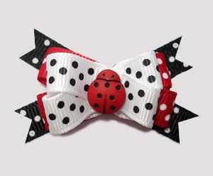 #BTQM824 - Mini Boutique Dog Bow Lovely Little Ladybug