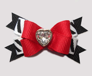 #BTQM836 - Mini Boutique Dog Bow Sweet Little Love Heart